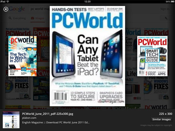 Google Search App for iPad Adds Instant Previews