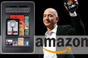 Amazon's Jeff Bezos with the Kindle Fire
