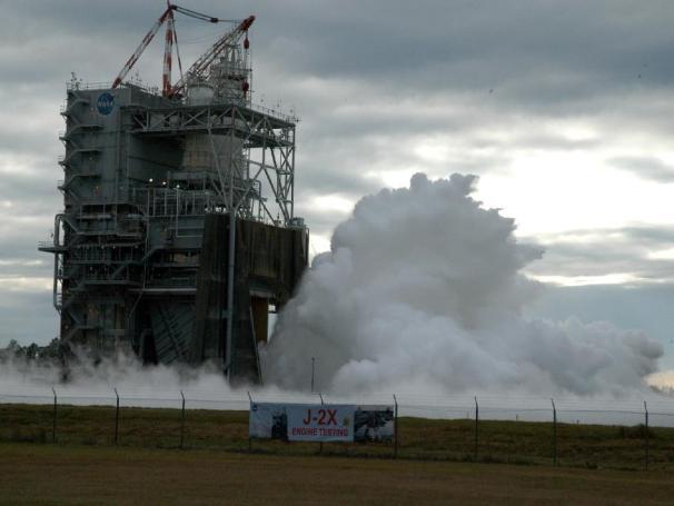 J-2X Test Firing, Credit: NASA