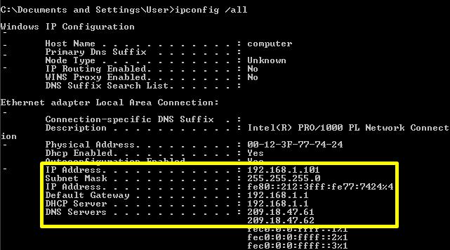 Assigning static ip address