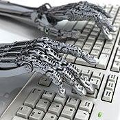 Robot at keyboard