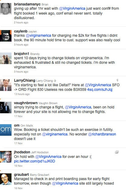 Virgin America's Website Meltdown: Four Weeks and Counting
