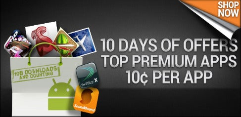 Android Market Celebrates 10 Billion Downloads With 10-Cent App Sale