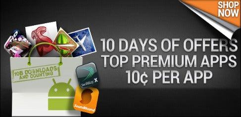 Android Market Celebrates 10 Billion Downloads With 10-Cent App Sale