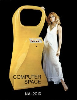 Cover of the original Computer Space flyer, 1971