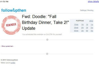 Followupthen.com screenshot
