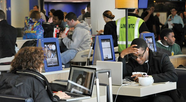 Delta iPad stations.