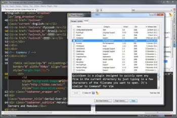 jEdit screenshot