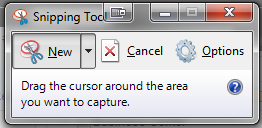 Windows 7 and Vista have a built-in screenshot utility called the Snipping Tool.