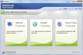ZoneAlarm Free Firewall screenshot