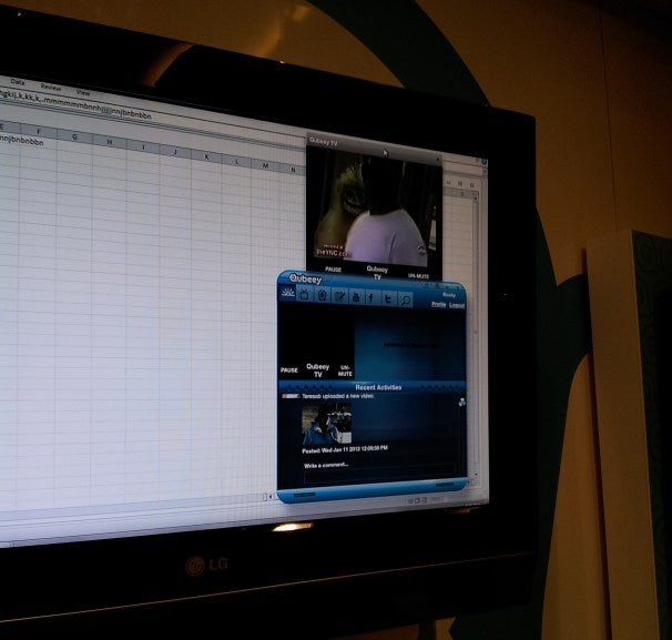 The platform can be used while you multitask on your desktop and use other applications--like Excel.