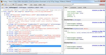 Firebug Firefox add-on screenshot