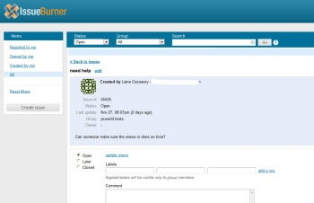 IssueBurner screenshot