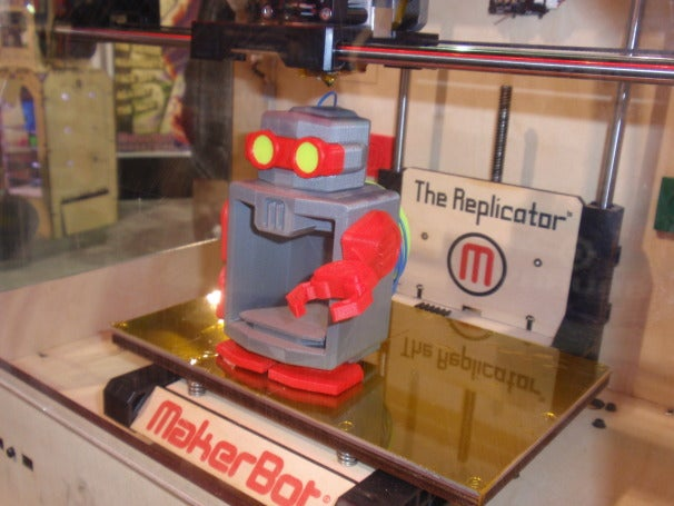 MakerBot 3D printed robot