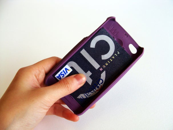 PayWave credit cards easily fit into the back of the case