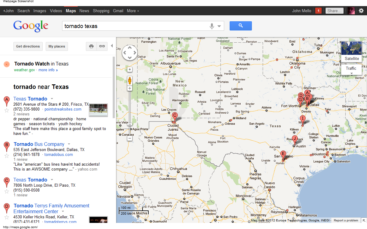 New google maps feature disaster alert pins with google for Goodl