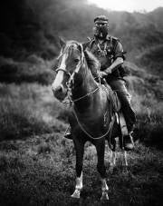 EZLN spokesperson, Subcommandante Marcos; photo credit: Jose Villa.