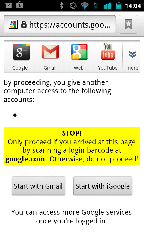 Log into Gmail on a PC via Your Smartphone