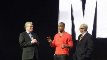 Will Smith on stage at the Sony Press Conference