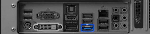 sSATA (external Serial Advanced Technology Attachment) port.