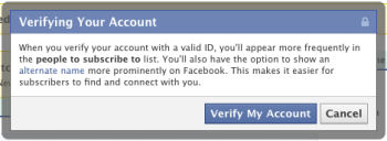 Facebook to Verify Accounts, Allow Use of Nicknames