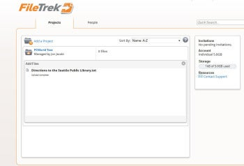 FileTrek screenshot