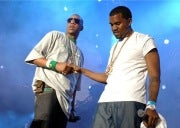 Rappers Jay Z and Kanye West
