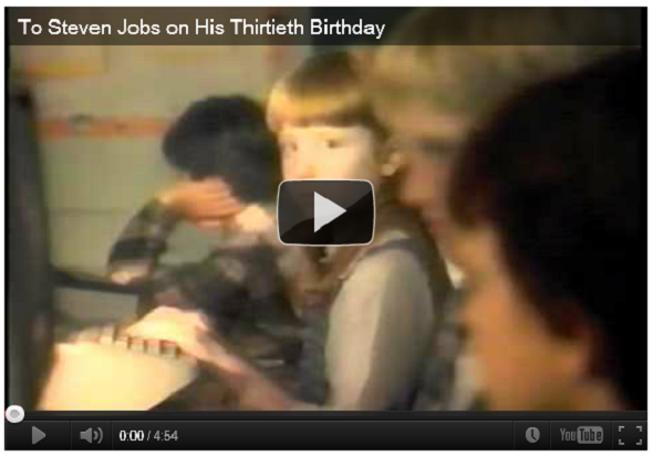 Apple's 30th Birthday Salute to Steve Jobs Removed from YouTube
