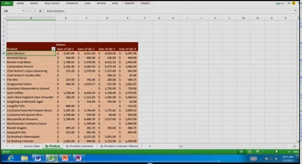 The ever-familiar Excel spreadsheet looks clean and mostly unchanged.