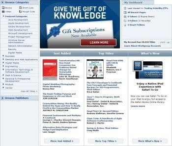 Safari Bookshelf Online screenshot