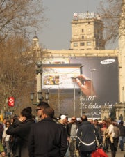 Samsung Galaxy Note 10.1 billboard in Barcelona