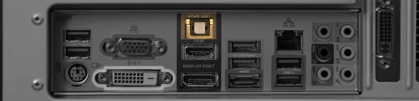 Toslink SPDIF (Sony/Philips Digital Interface) connector.
