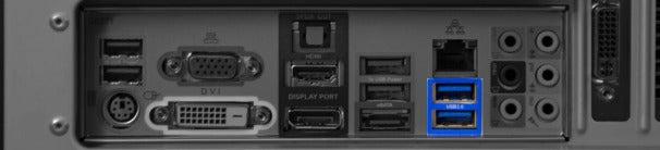 USB 3.0 ports.