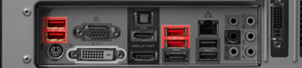 USB 2.0 ports with increased available trickle current.