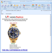 Replica watch scam email