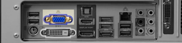 VGA (Video Graphics Array) connector.