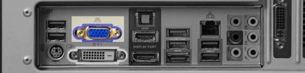 VGA (Video Graphics Array) connector.