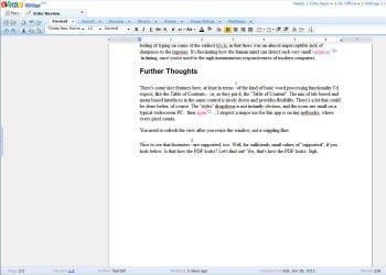 Zoho Writer screenshot