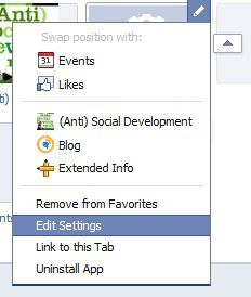 Here's where you edit the apps boxes.