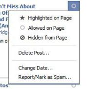 Check the Activity Log for what's posted on your page.