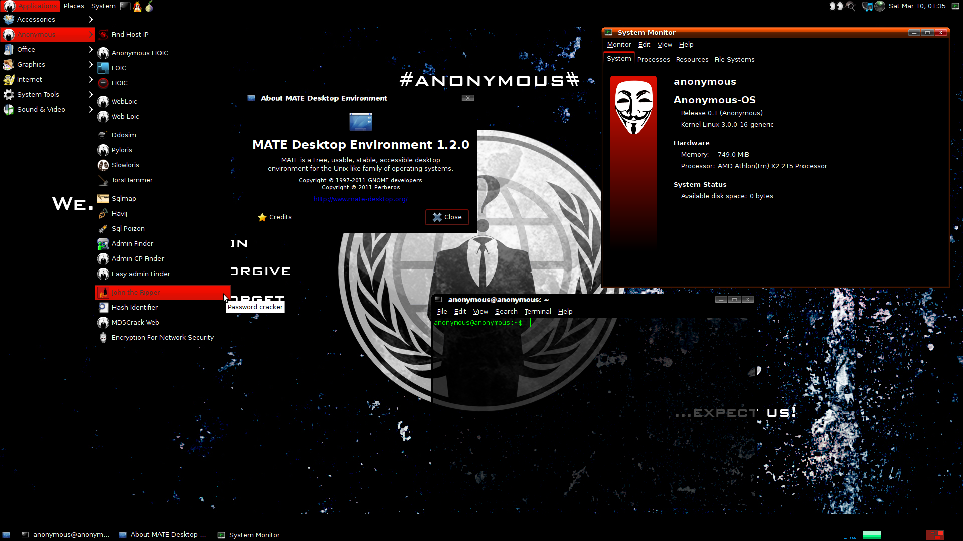 Anonymous Desktop OS Released, Hacking Tools Included ...