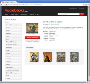 Audiobooks.com screenshot