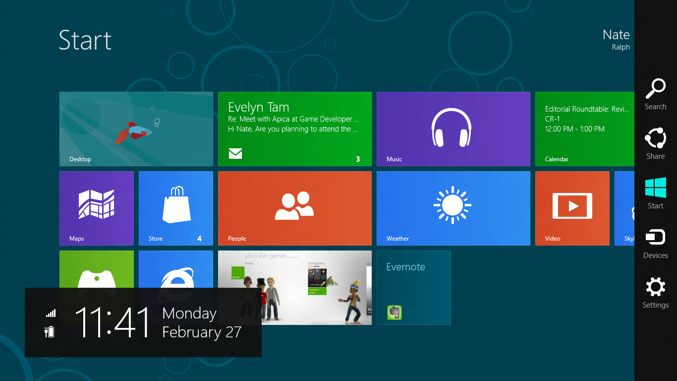 Windows 8 features.
