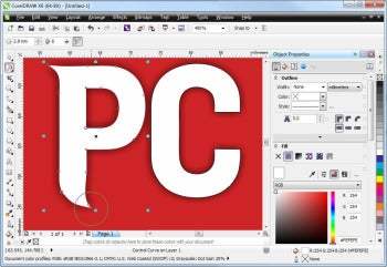 CorelDRAW Graphics Suite X6 screenshot (morphing tools)