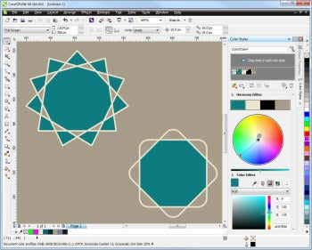 CorelDRAW Graphics Suite X6 screenshot (color styles)