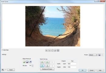 CorelDRAW Graphics Suite X6 screenshot (SmartCarver)