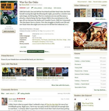 Goodreads individual book listing screenshot