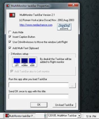 MultiMon Taskbar Free screenshot