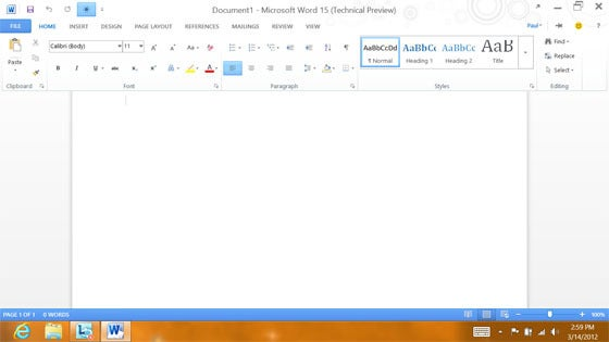 Microsoft Office 15 Technical Preview Shows a Metro Touch