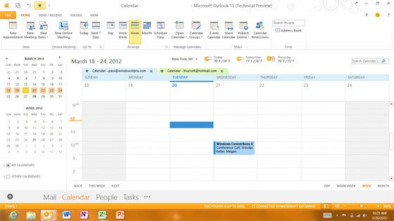 Outlook 15 Gets Ready for Touch Tablets